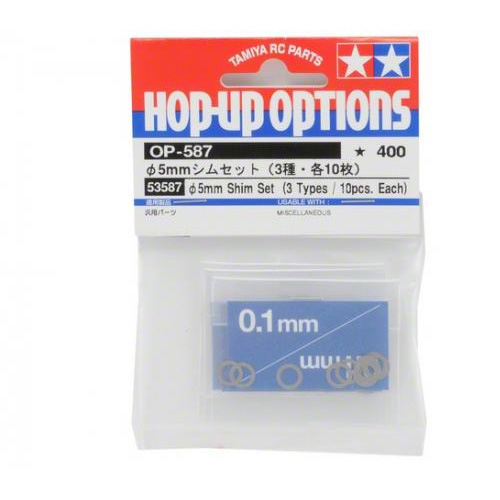 Tamiya (#53587) - 5mm Shim Set 3 types 10pcs each