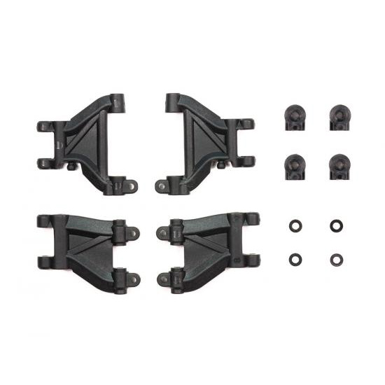 Tamiya (#54811) - M07 Carbon Fiber Reinforced D Parts Suspension Arms 2 pcs Black