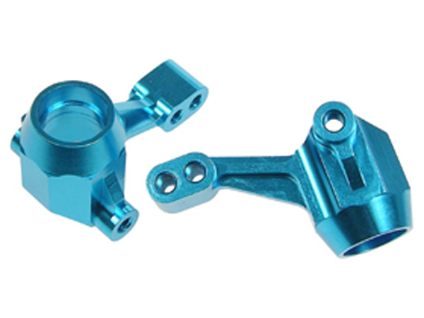 3 Racing Blue Aluminium Front Knuckle Arms for Tamiya M03 (2 pk)