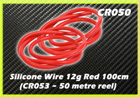 CORE RC Silicone Wire 12g - Red 1 Metre