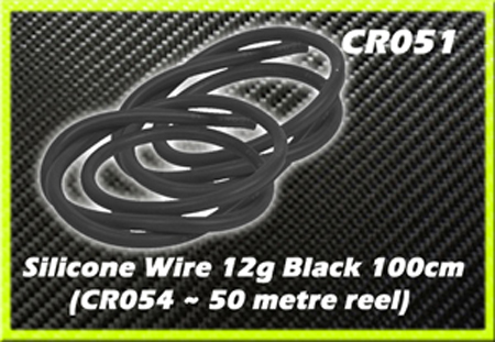 CORE RC Silicone Wire 12g - Black 1 Metre