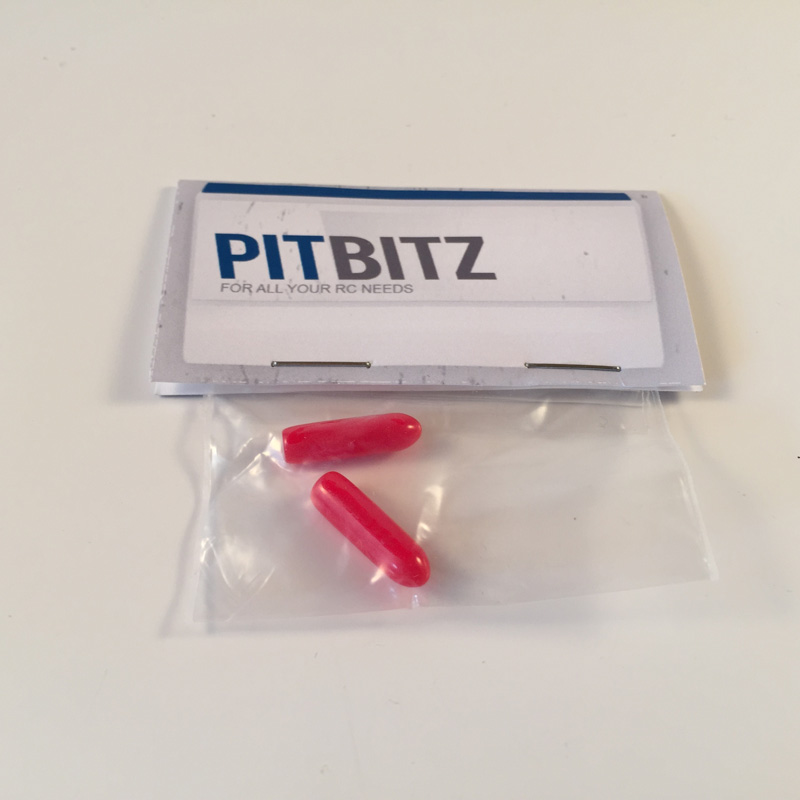 Antenna Pipe Topper - Red (2pcs)