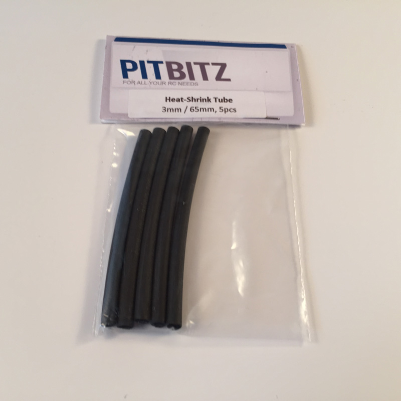 Heatshrink 3.0mm dia Black - 5pcs