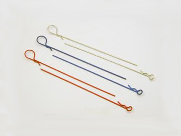 Long Body Clip - Large Tip Blue (5 pcs)