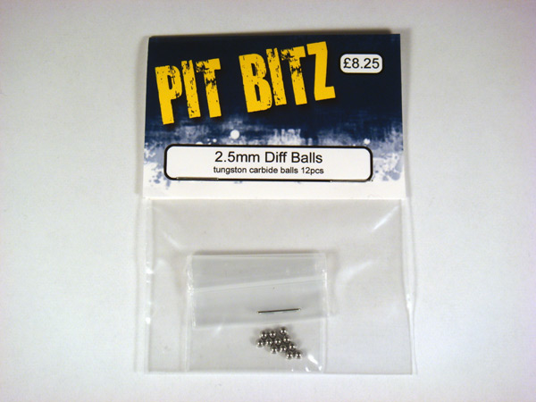 Pit Bitz 2.5mm Diff Balls - Carbide