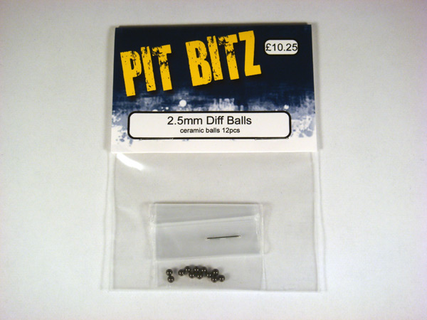 Pit Bitz 2.5mm Diff Balls - Ceramic