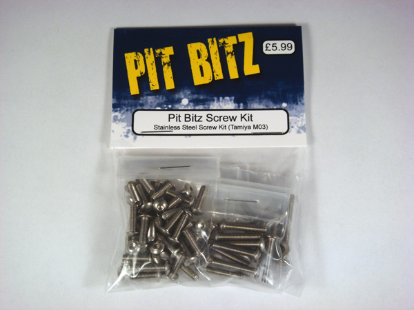 Pit Bitz Stainless Steel Screw Kit - (M03)