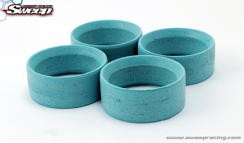 Sweep Mini Mold Tyre Inserts Aqua (Medium) 4pcs