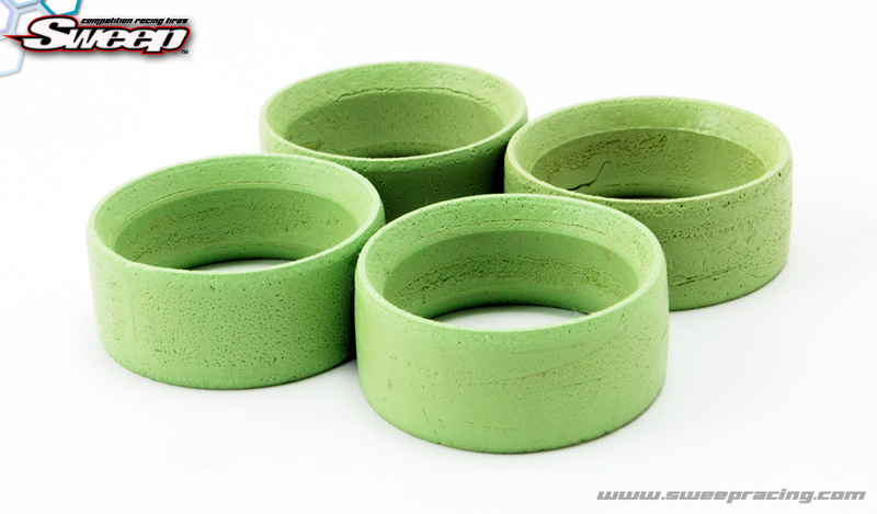 Sweep Mini Mold Tyre Inserts Green (Hard) 4pcs