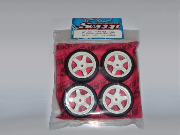 Prebuilt Sweep Mini Touring Car Rubber Wheels/Tyres 25deg 4pcs