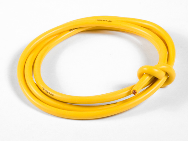 TQ Racing 13awg Power Wire - 3ft - Yellow