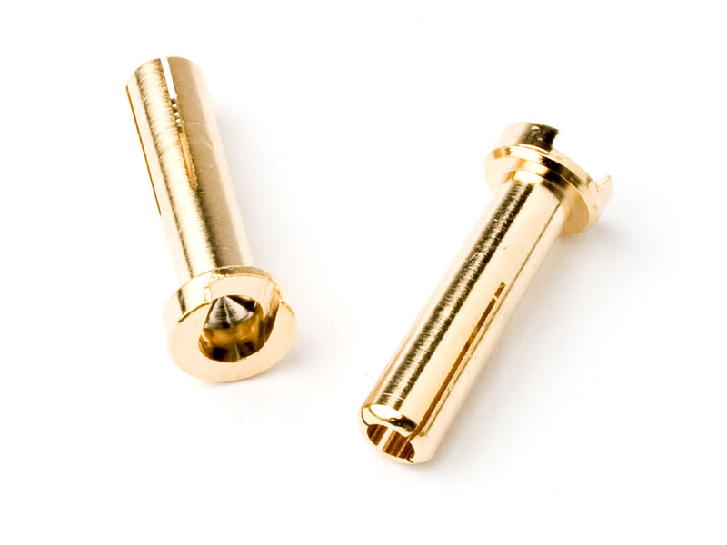 4mm Low Profile Male Bullet - 2 pcs GOLD
