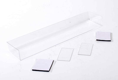 U5119 - Touring Car Wing + 2 End Plates - Clear
