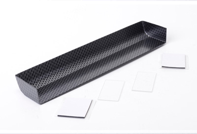 U5121 - Touring Car Wing + 2 End Plates - Carbon